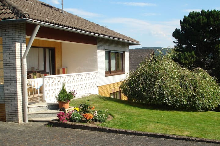 Apartment in the Westerwald with large garden and terrace with barbecue area