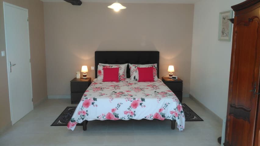 The bedroom area has a king size bed with slightly raised legs to enable easier use by less able guests.