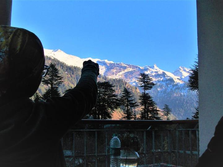 Manali top inn top view point of Manali