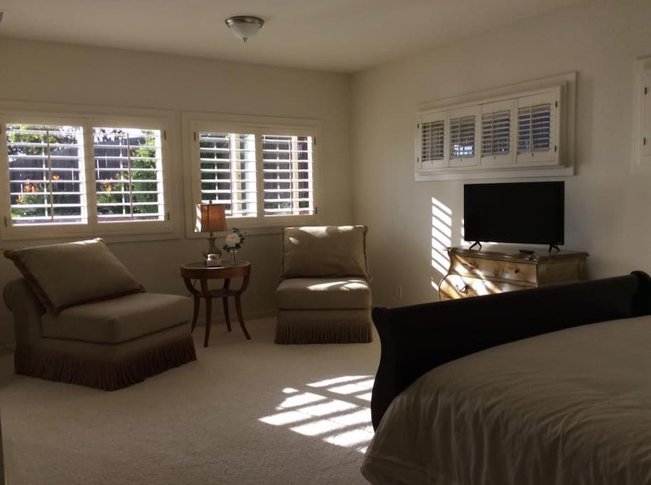 Bright and spacious private suite