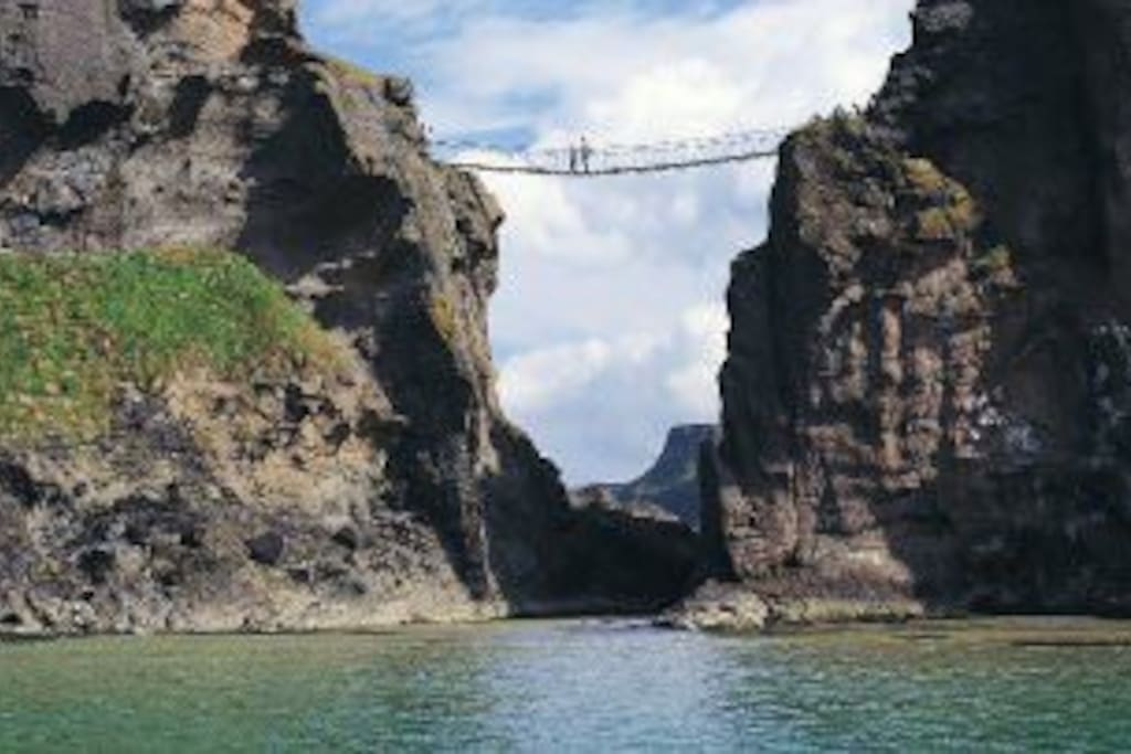 Are you brave enough to cross the carrick a rede rope bridge. Only 22 miles from Tullaghbrook.