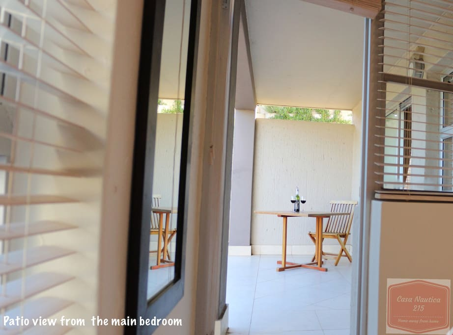 Private entrance / exit between the Main Bedroom and Patio allowing plenty of natural light and fresh air inside the room.