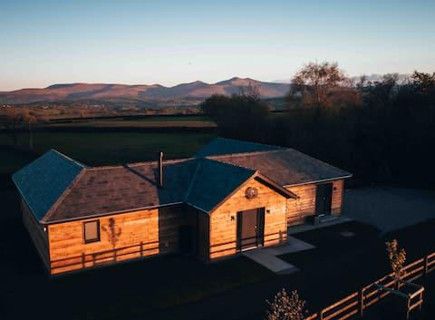 Luksusowy domek z widokiem na Brecon Beacons