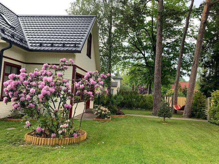 New and cosy house in Jurmala. 300m from the beach