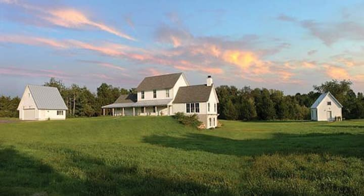 Modern Farmhouse on 15 Private Acres, Pool & Pond