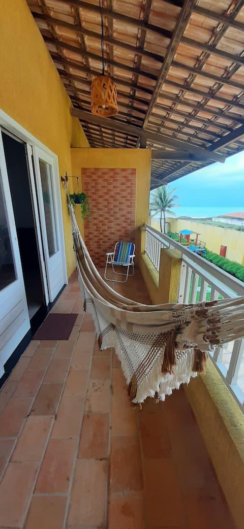 Apê Pé na Areia em condomínio fechado - Praia de Búzios (RN)
