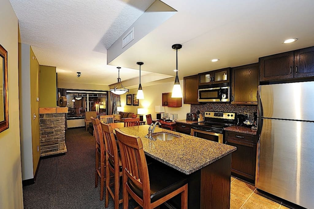 Enjoy preparing dinner in this modern condo
