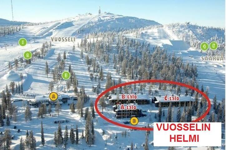 Ruka apartment on the slopes,Gondoli 100m,FreeWIFI