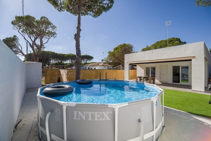 "Modern Holiday Home ""Chalet Camino Granado"" with Pool, Garden & Terrace; Parking Available"