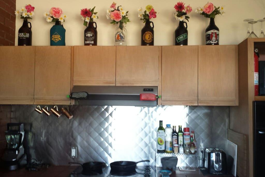 Full kitchen access.