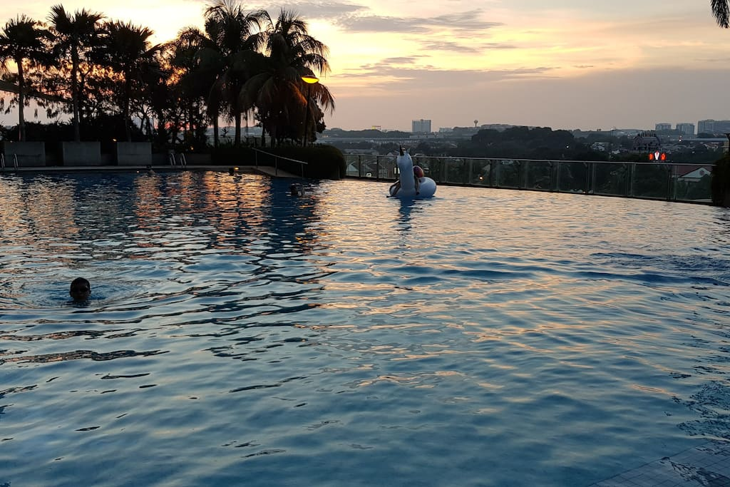 Infinity Swimming Pool -Sunset