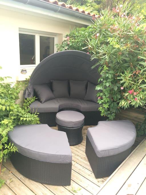 Salon de jardin/Canapé extérieur