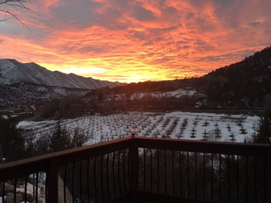 Sunset view from back deck