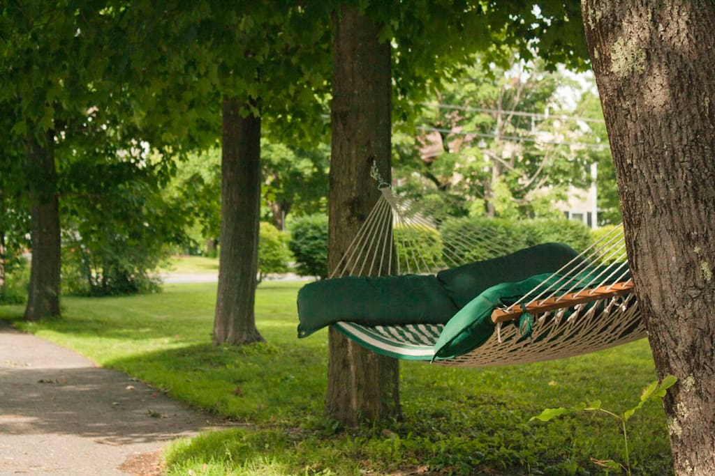 Enjoy a nap in the hammock