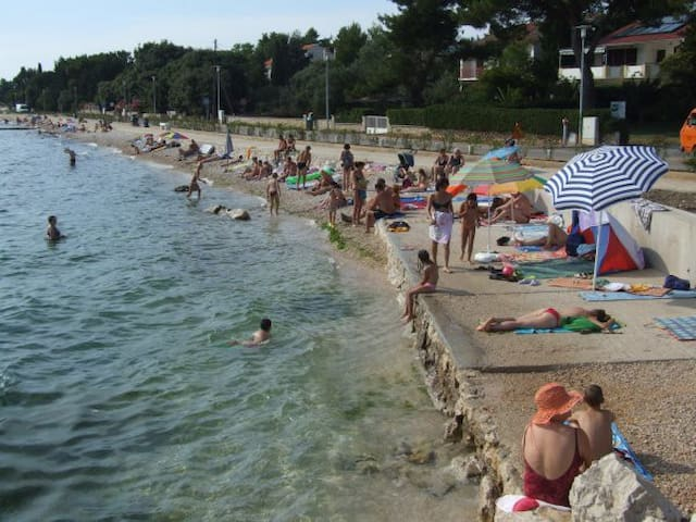 Beach in front of Appartment