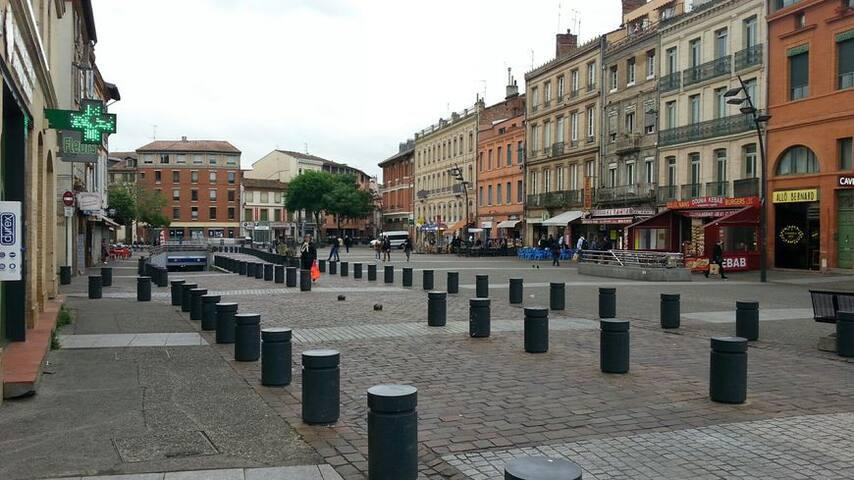 Chambre privée au centre de Toulouse