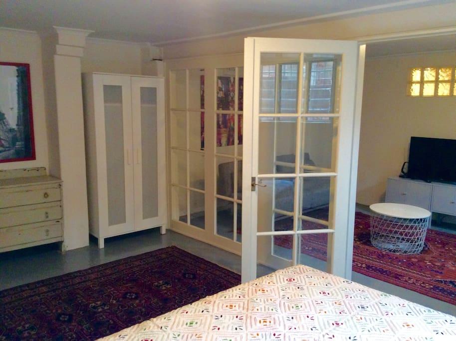Character bevelled glass bedroom doors