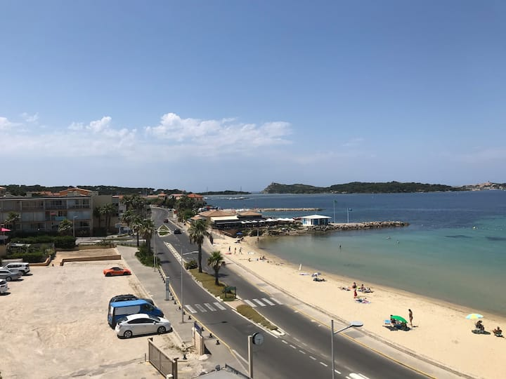 Face à la plage Wifi Vue mer à 180° Baignade à 1mn