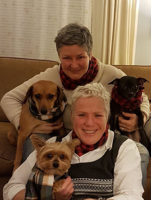 This is us with our furry gang!