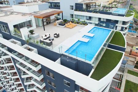 Encantador apartamento con vista al mar - Distrito de Lima