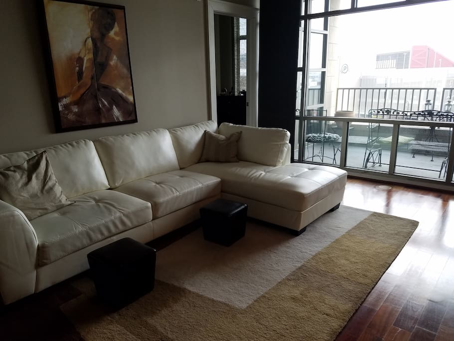 livingroom and private balcony
