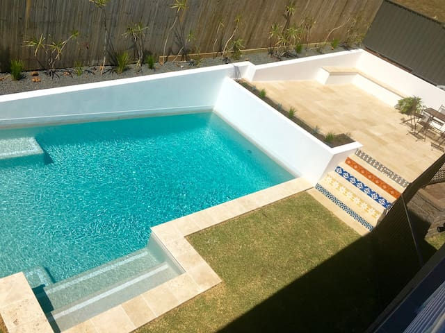 Poolside Pad Lennox Head. Walk to beach & shops