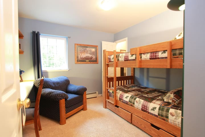 Rm 3~The Howling Wolf room features bunk beds & Alaskana Décor. Guests often ask about our history here. You will get a small glimpse of who we are as there are a few photos and facts about my son. I am pleased to share a little part of us with you.