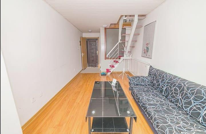 紧邻火车站南广场,白浪河边,双层小公寓,一厅一卧。