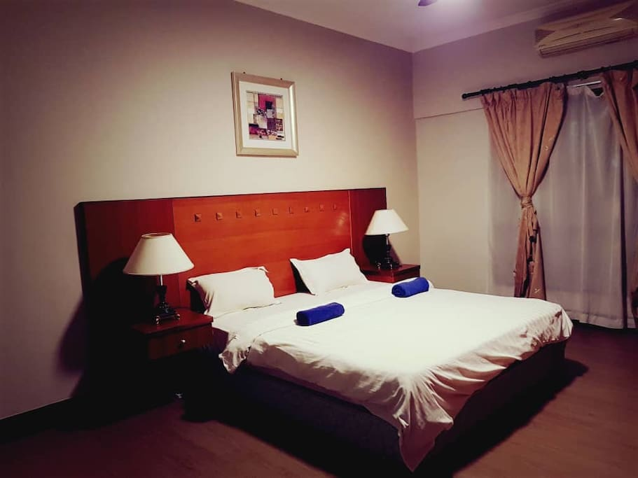 Hotel standard super king bed.