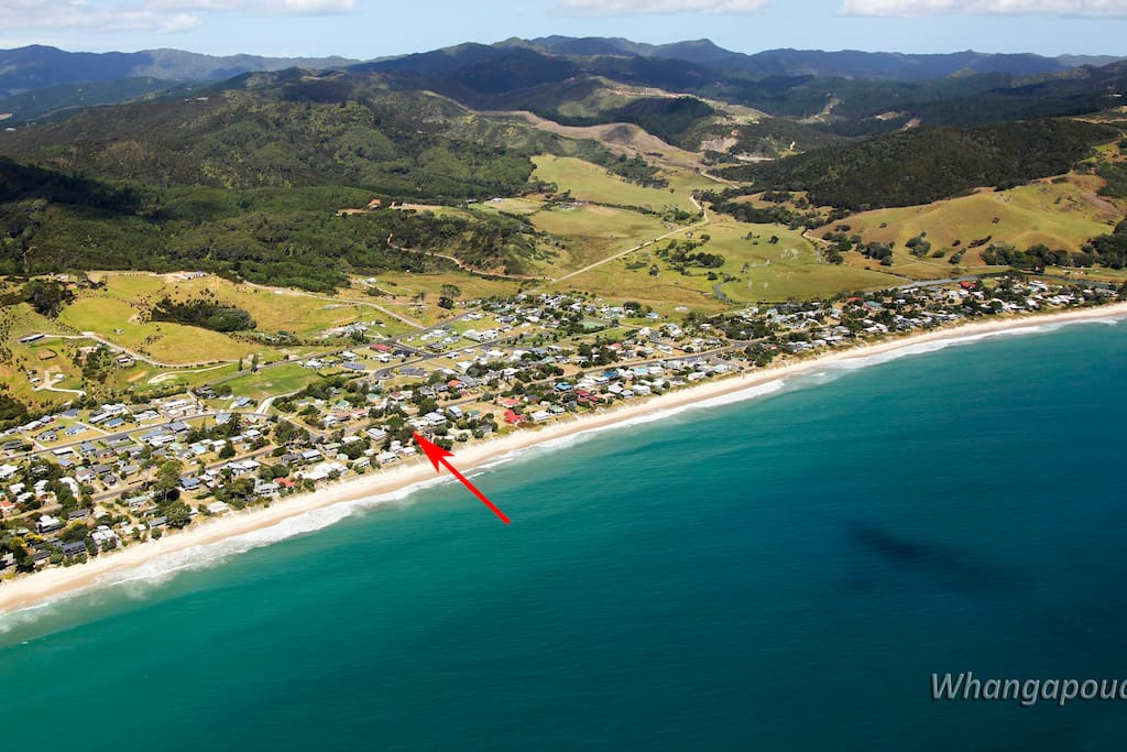 House location at Whangapoua Beach
