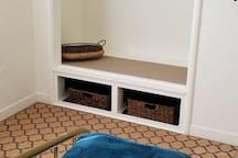 Queen bedroom with ample closet space