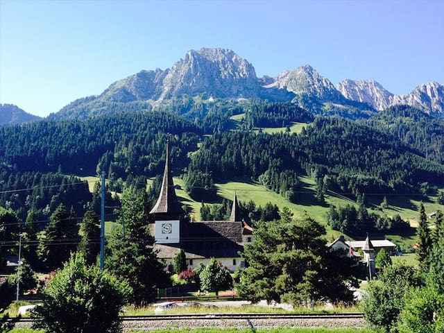 Gstaad - Cozy spacious Flat right in the village