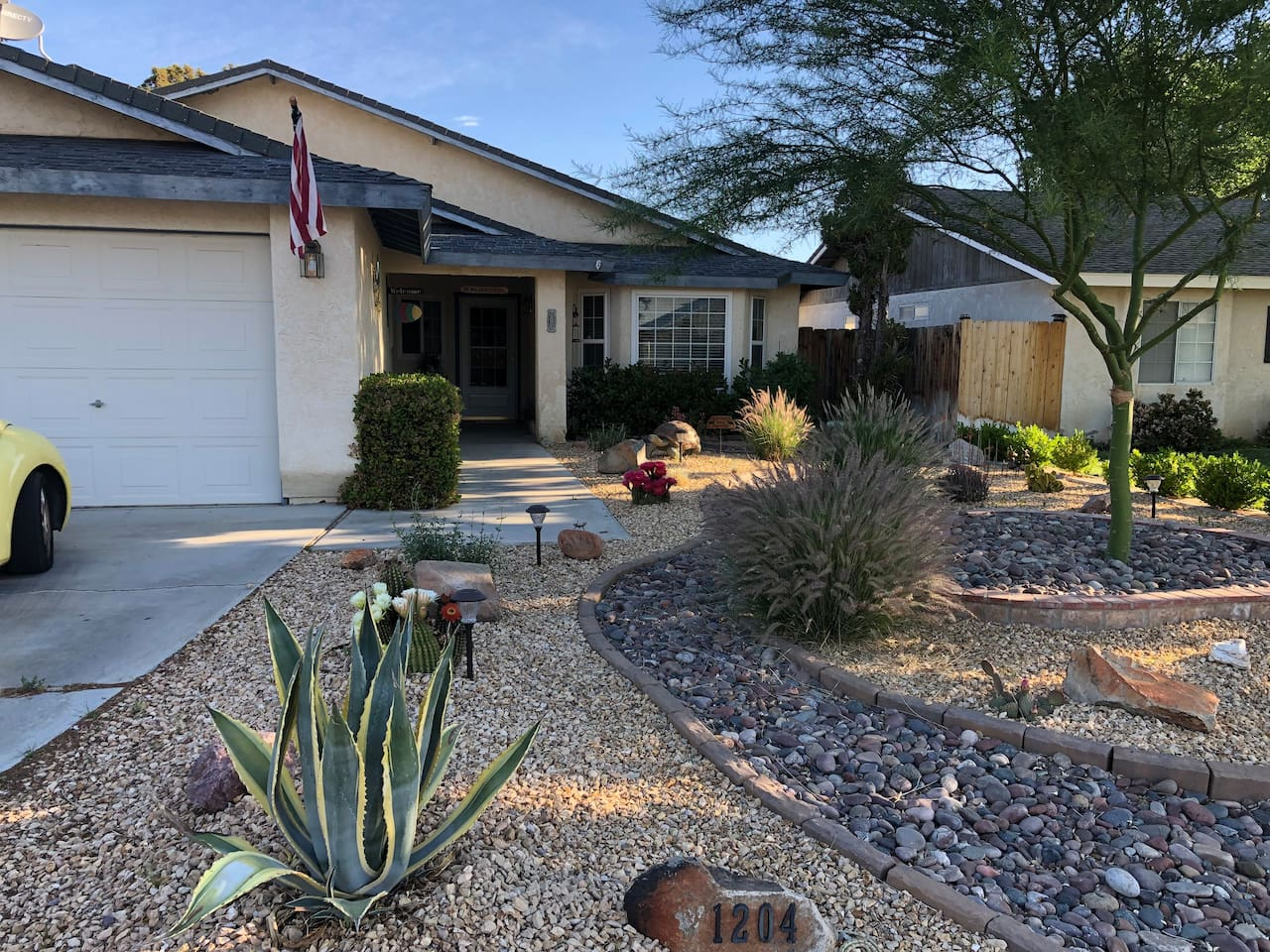 Our desert landscaped home
