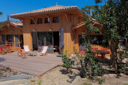 CAP FERRET Villa Bois 3Ch + 1 Adaptée Handicapé. - Lège-Cap-Ferret