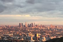 This view is from Runyon Canyon - literally a 4 MINUTE walk from the house. (Such a great hike, such a great view)