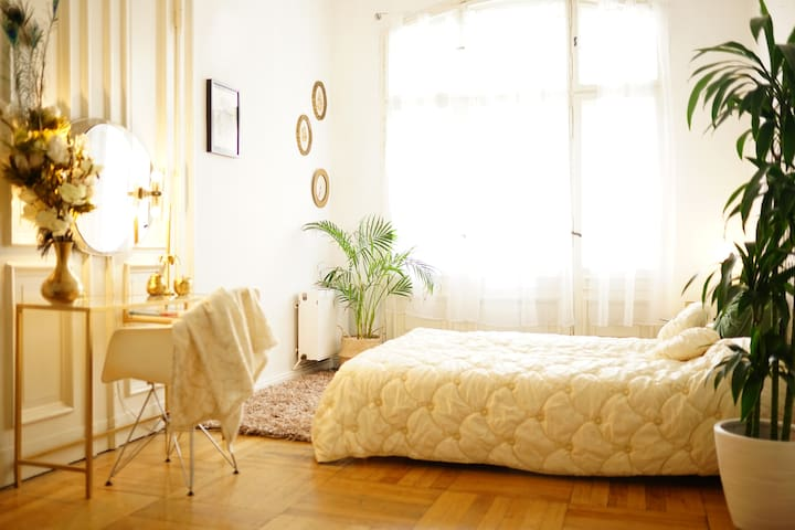 Central Large Room &  Balcony in Cosy Apt Berlin