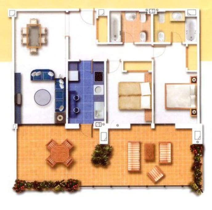 Layout of our second floor apartment
