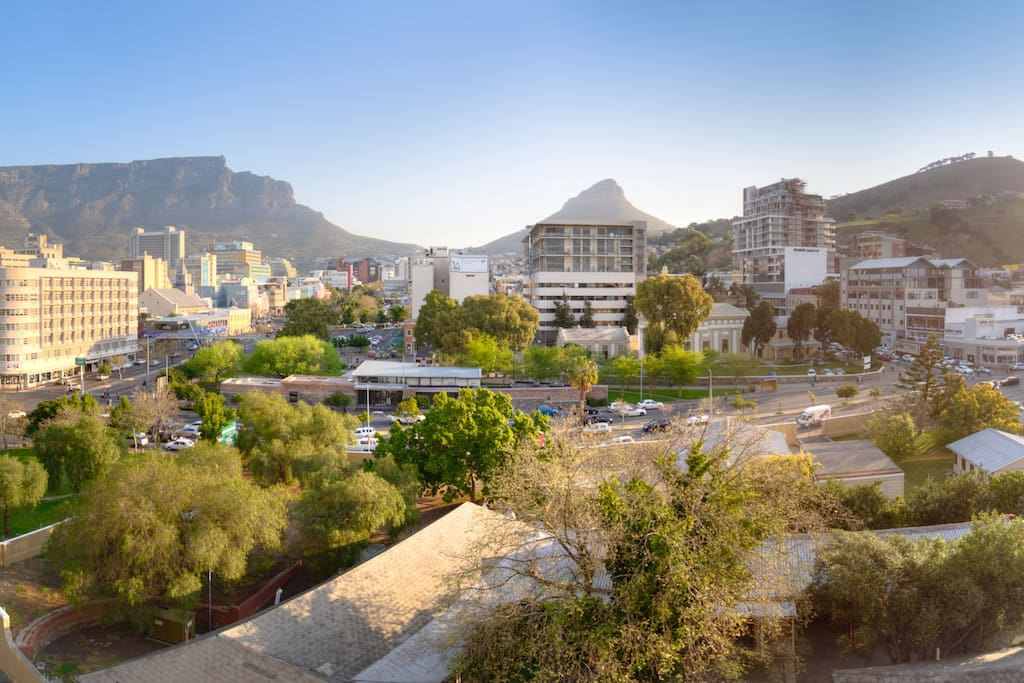 Breathtaking view of Table Mountain from the open lounge nne by