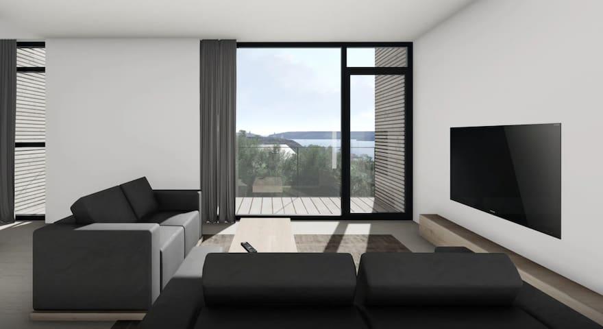 Nybyggd exklusiv villa med fantastisk havsutsikt