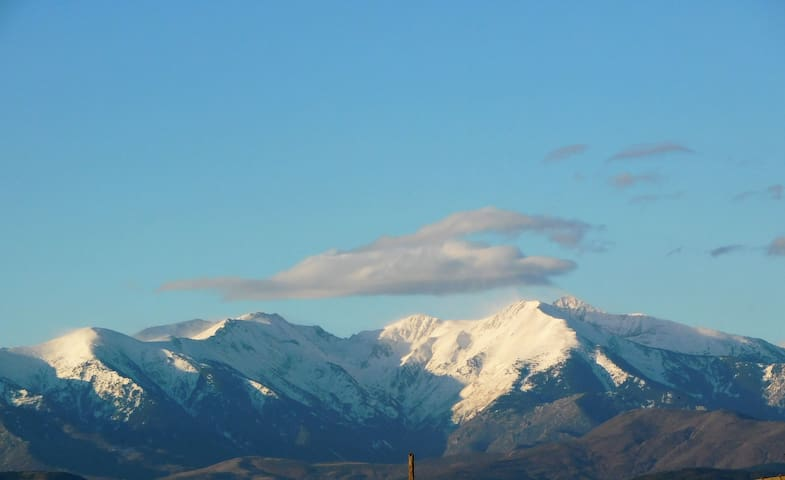 Exceptional view of the Canigou.