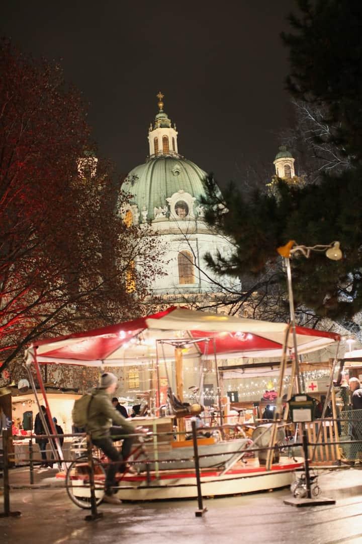 Admire local art market unique in Vienna