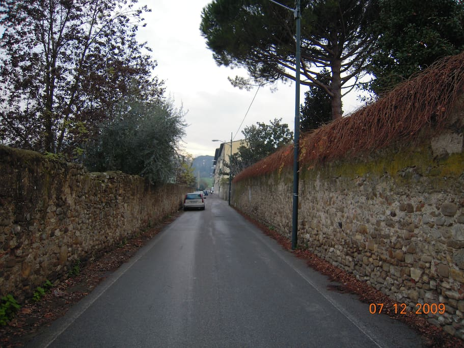 The home's street