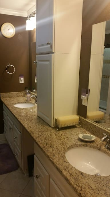 Bathroom #2. A two sink bathroom for those who don't feel like sharing all the time.