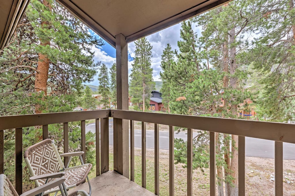 From this condo, you'll enjoy stunning mountain views and being close to 4+ world-class ski resorts!
