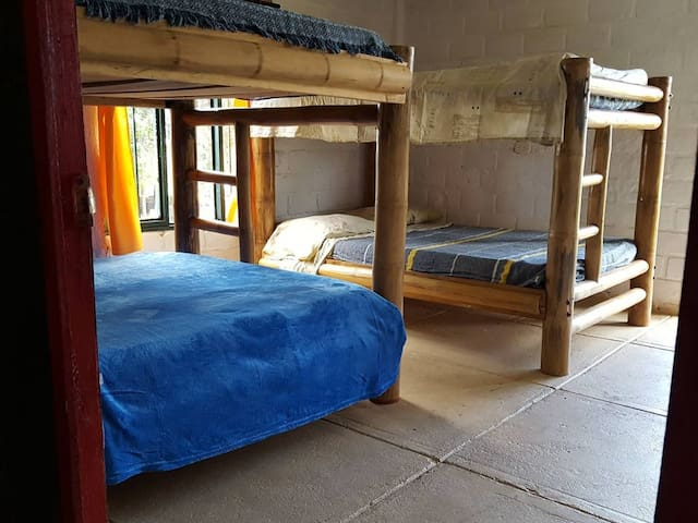 This booking is for 3 beds in a private dorm room just for you.
