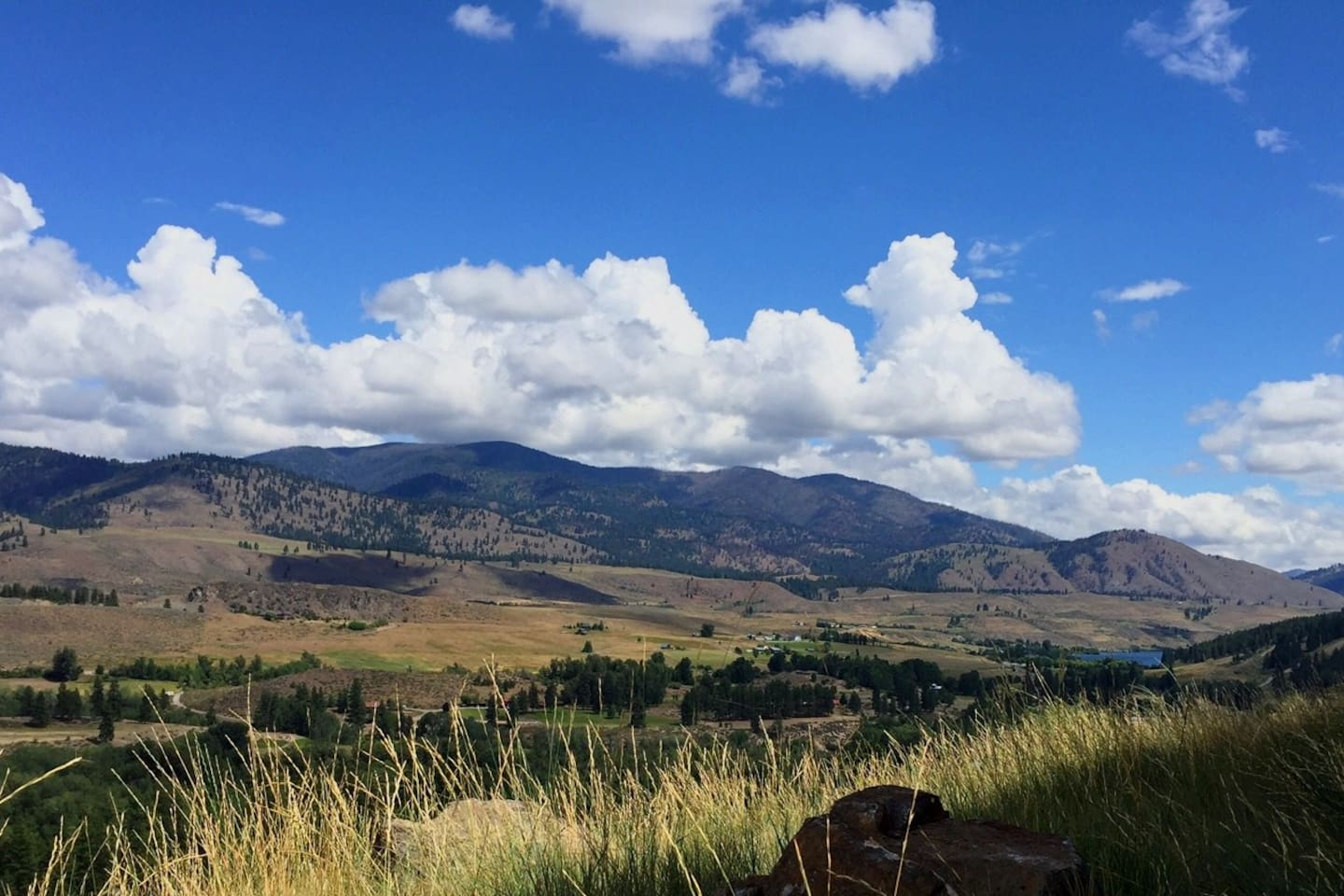 Welcome to Chimayo, in the spectacular Methow Valley. View from the patio on a summer day.