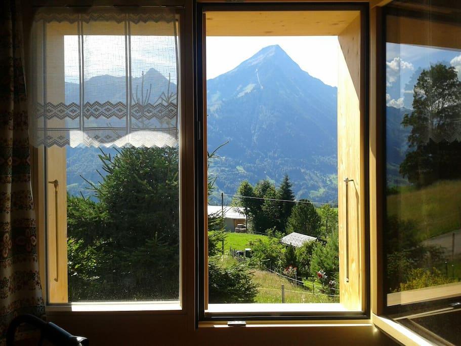 Aussicht aus dem Wohn-Esszimmer