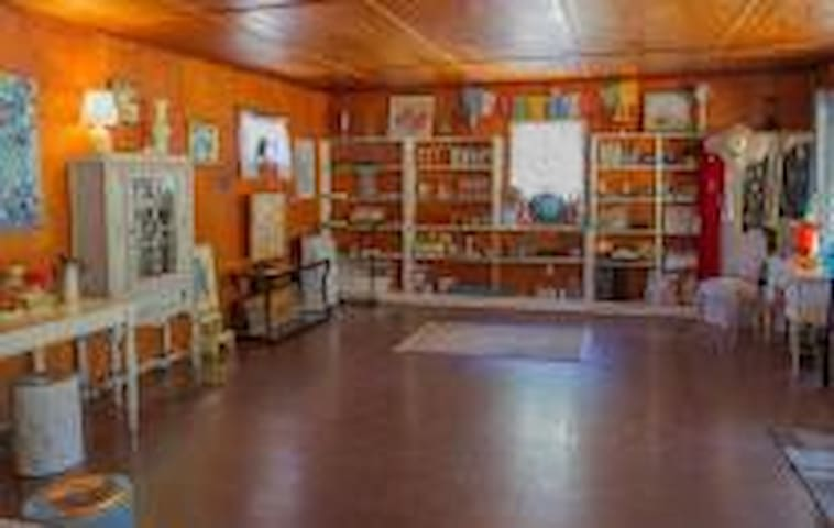 Large open studio for your writing, art, music, or movement.
