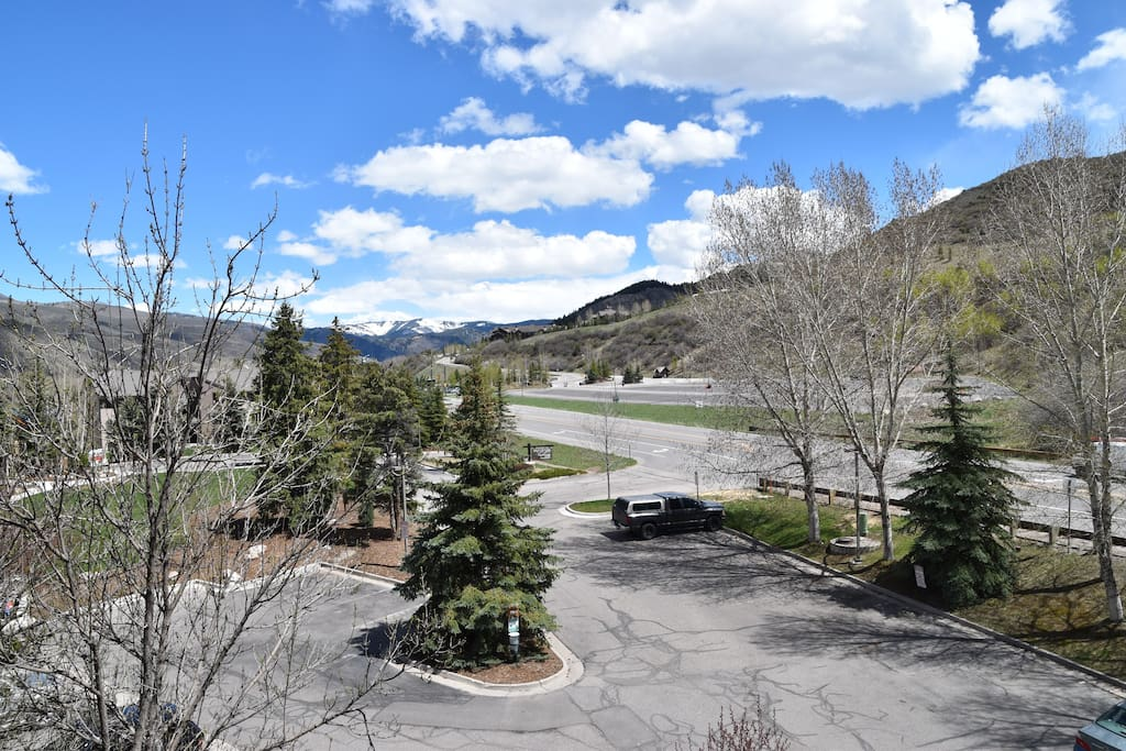 View from Living Room - Vail Mountain in Distance / Beaver Creek & Bachelor Gulch just up road across the street