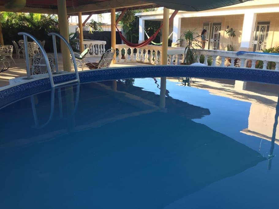 Swiming pool is free